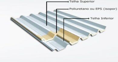 Telha de aço galvanizado com EPS ( isopor )