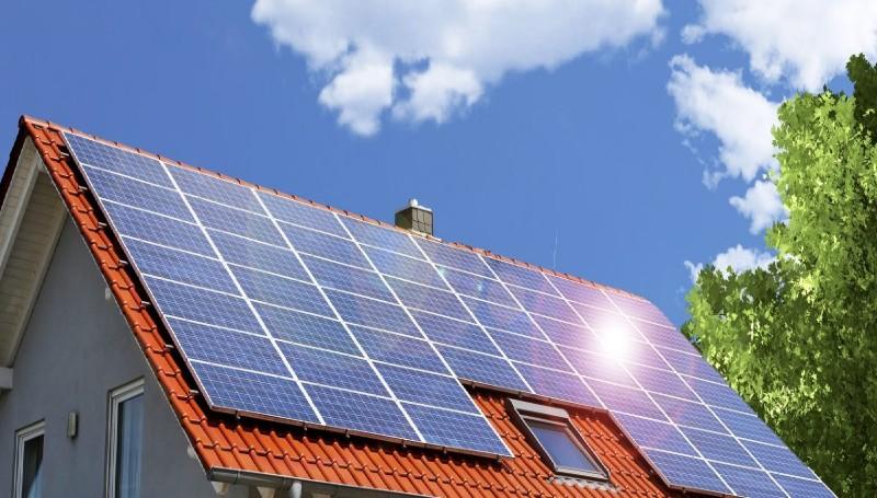 Placas solares em casas